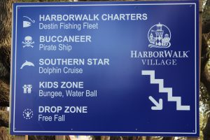 This sign gives the visitor some idea of the different activities that can be found along the Haborwalk.
