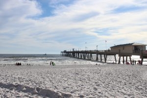 As with many other fishing piers along the panhandle, the Okaloosa Pier not only provides a spot for good fishing but a good spot to watch for marine life and great sunsets.