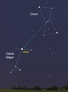 Canis major constallation