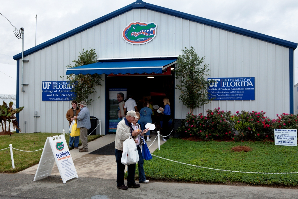 The UF/IFAS Building at the Sunbelt Ag Expo, Moultrie, GA
