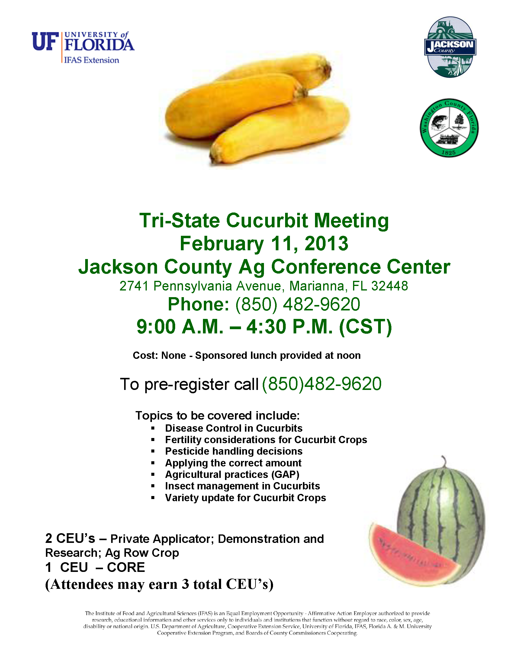 upcoming regional watermelon beef horse row crop educational 2013 tristate cucurbit meeting flyer final