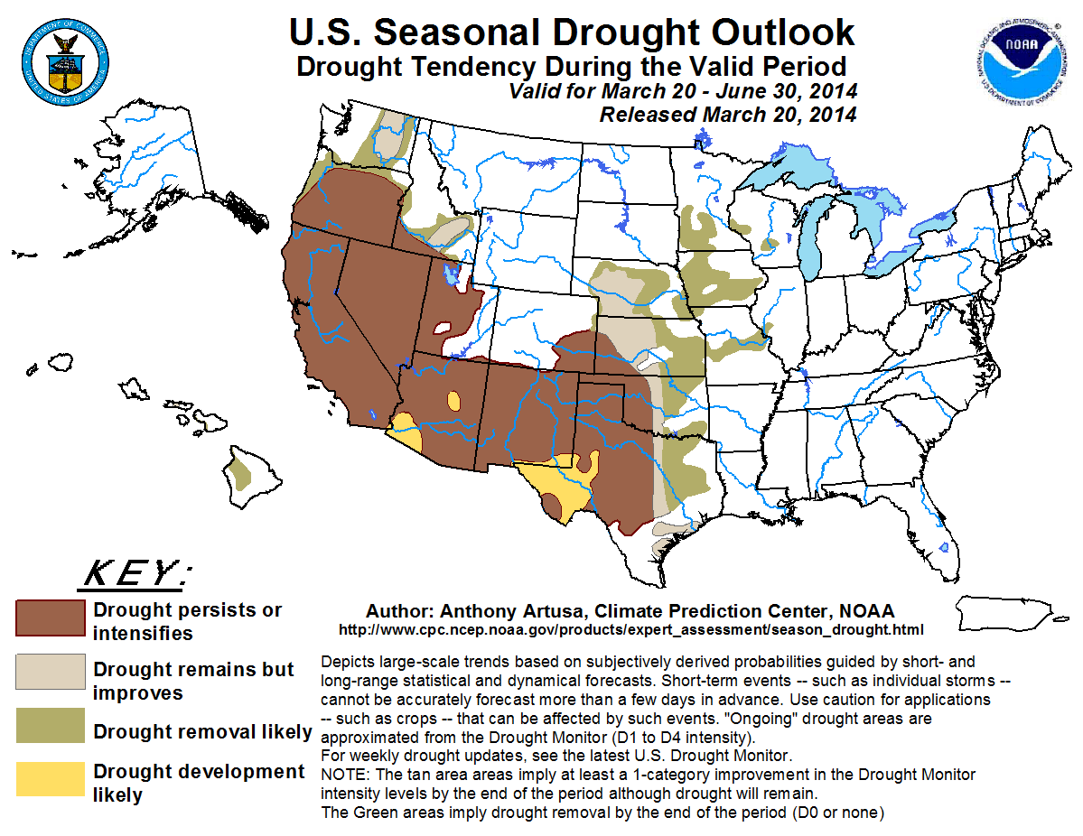 14 March-June Drought Outlook
