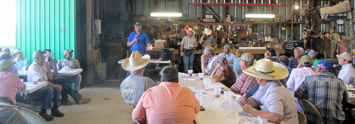 Billy Bigham provided an overview and history of their cattle operation.
