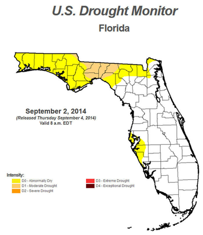 9-2-14 FL Drought monitor