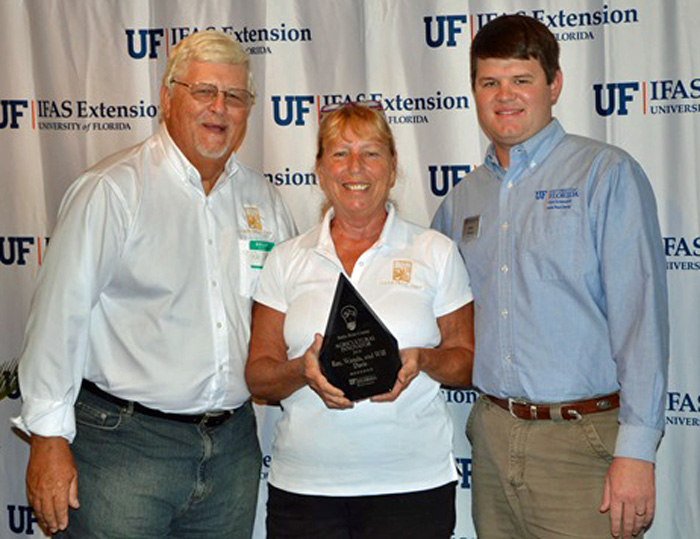 Ray & Wanda Davis were recognized as Agricultural Innovators by Blake Thaxton, Santa Rosa County Extension