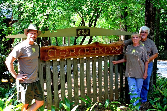 Will Wanda and Ray Davis of Clear Creek Farm in Santa Rosa County.  Photo credit:  Blake Thaxton