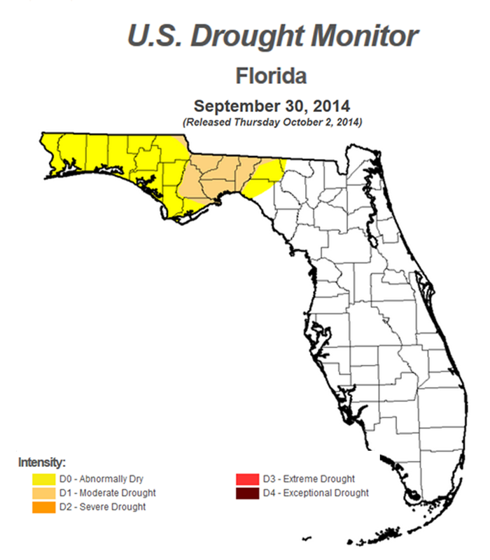 14 FL Drought Monitor 9-30-14