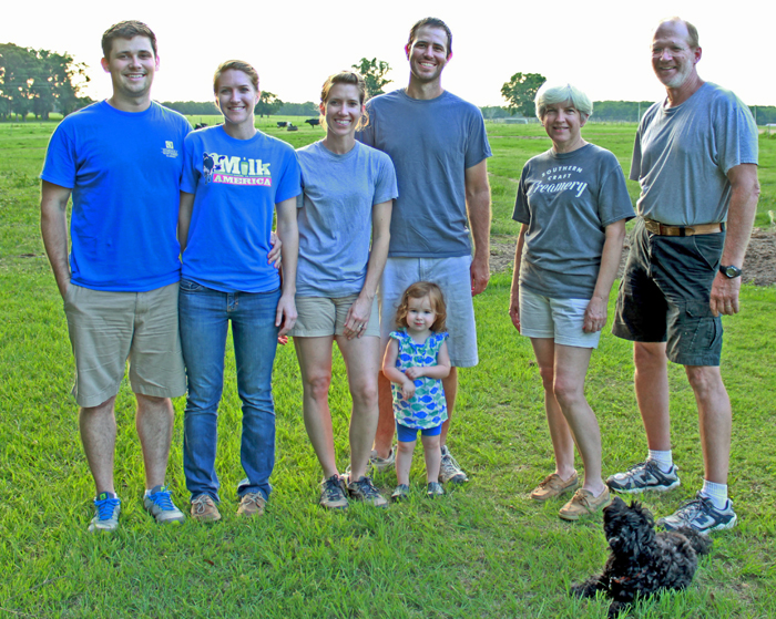Zach & Lauren O'Bryan, Meghan & Brad Austin, Cindy and Dale Eade work together under the names of Cindale Farms and Southern Craft Creamery.