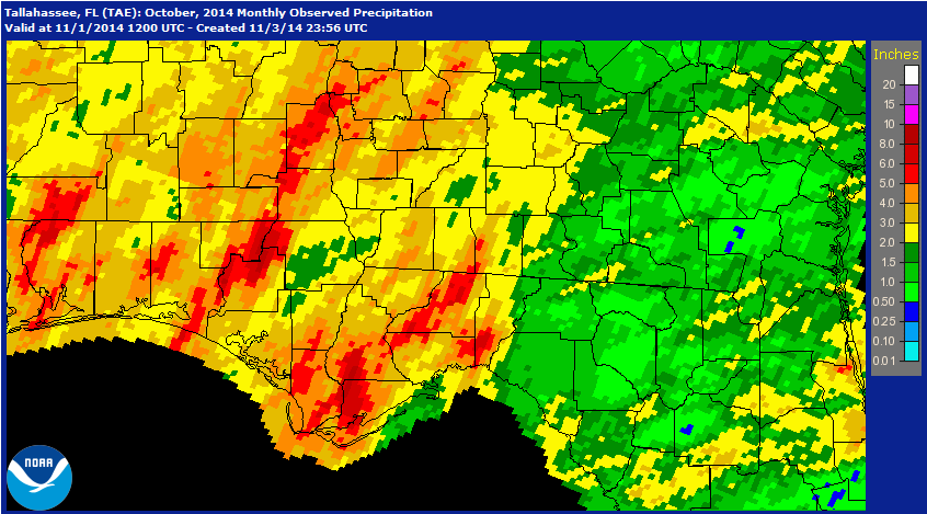 The National Weather Service provides rainfall estimates.