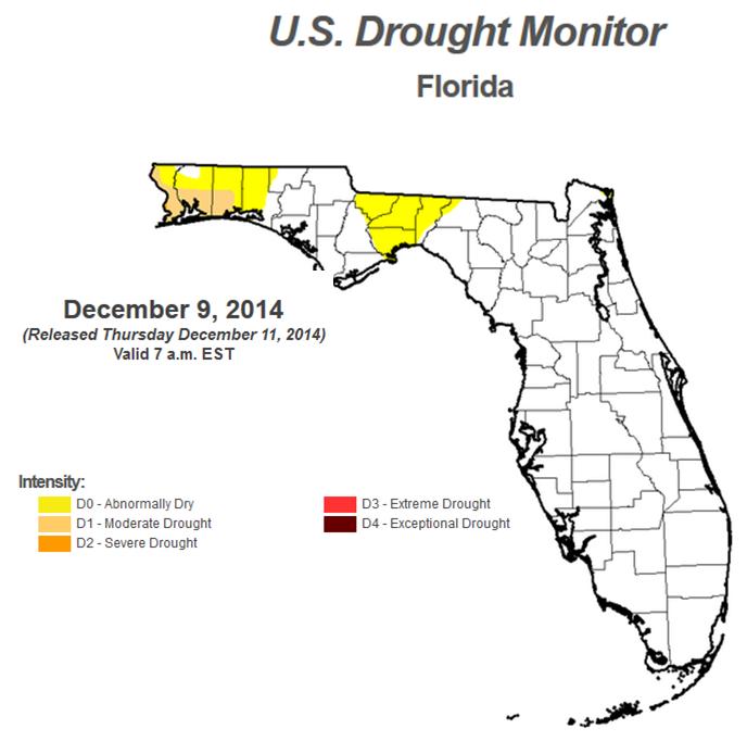 Dec 9 14 FL Drought Monitor