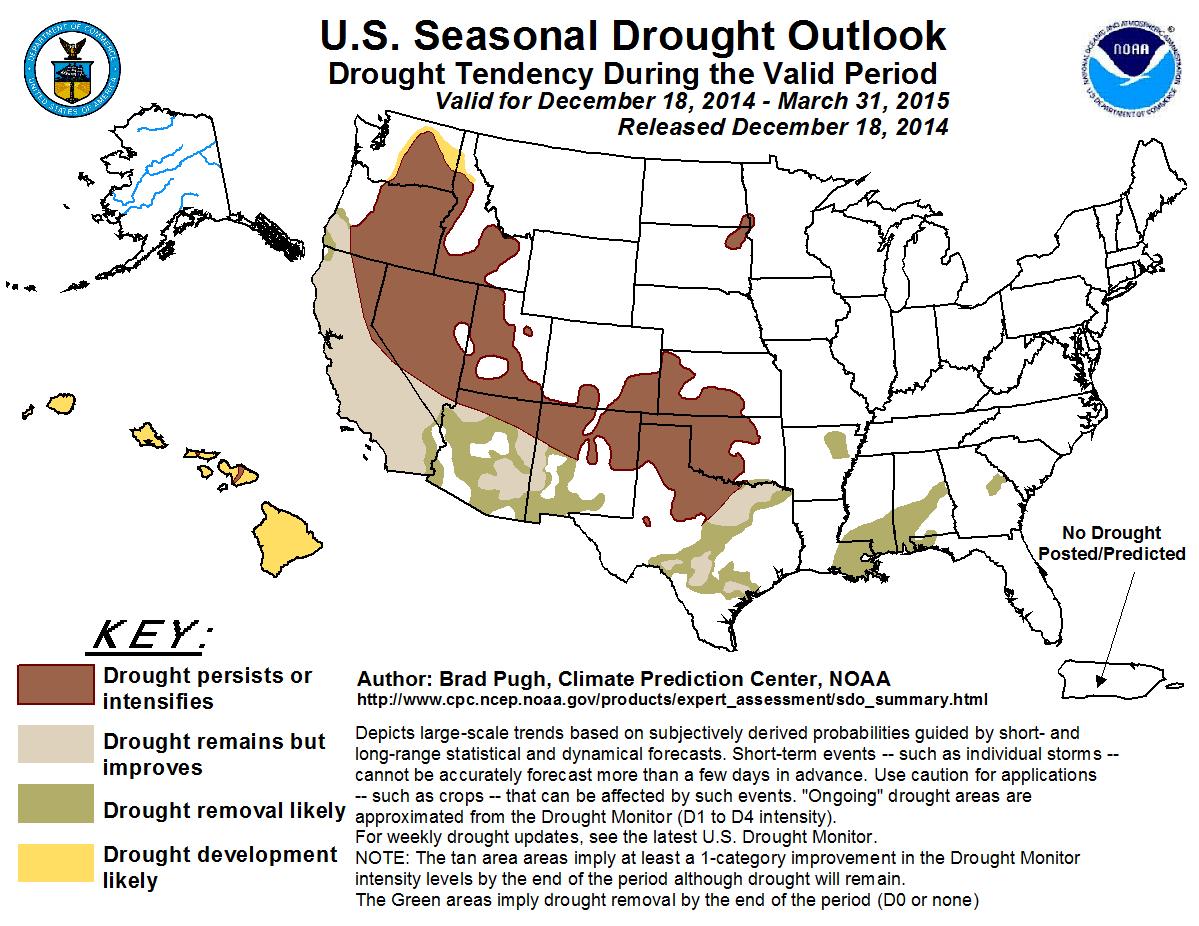 2015 US Seasonal Drought Outlook
