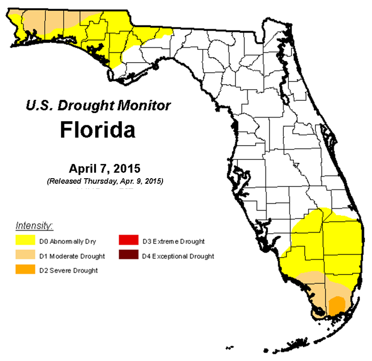 4-7-15 FL Drought Monitor