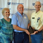 Raymon Thomas of Bonifay was recognized by Shep Eubanks, Former Holmes County Extension Agent as the Holmes County Agricultural innovator for 2015.