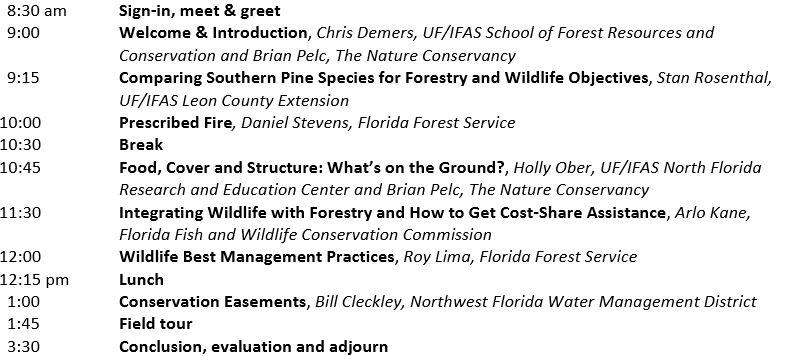 Integrating Forestry & Wildlife Agenda