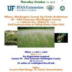 Panhandle Invasive Species Workshop Thursday October 15th