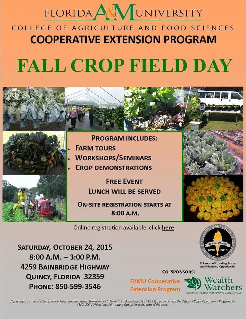 FAMU Fall Crop Field Day