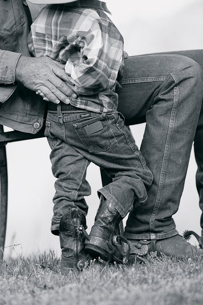 Rancher and Grandson
