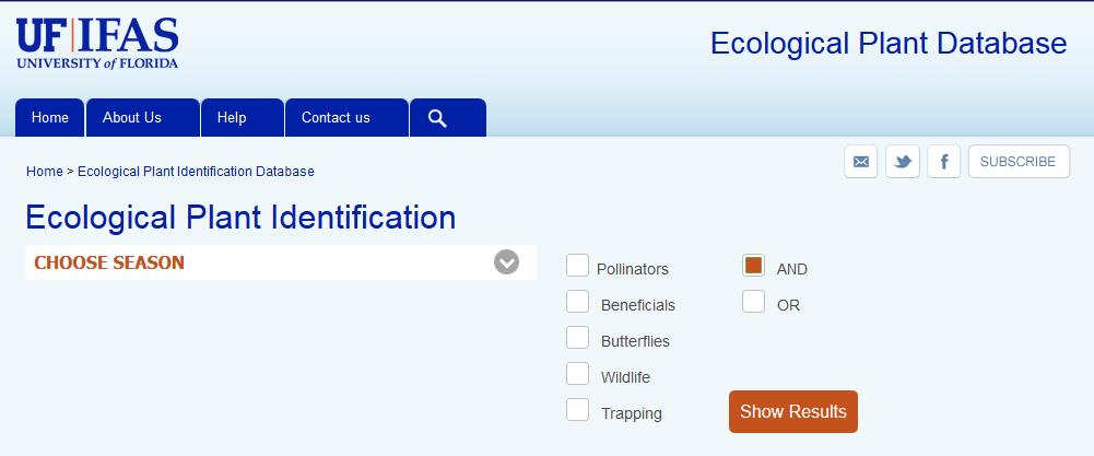 Ecological Plant Datatbase