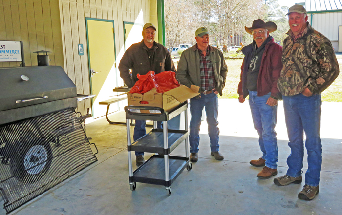 "The Jackson County Cattlemen's Association ""Cooking Crew"" grilled 190 steaks for the lunch this year. They were delicious. Thanks guys!"