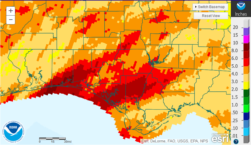 January 16 NOAA Rainfall