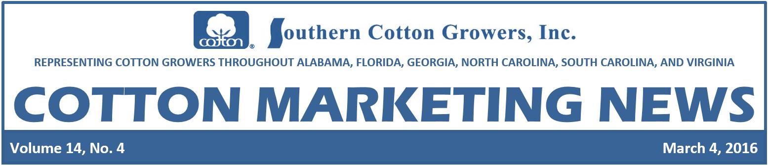 Cotton Maketing News header 3-4-16