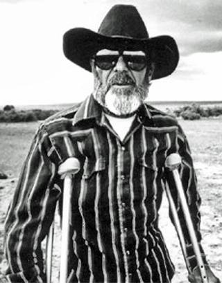 Cowboy on crutches