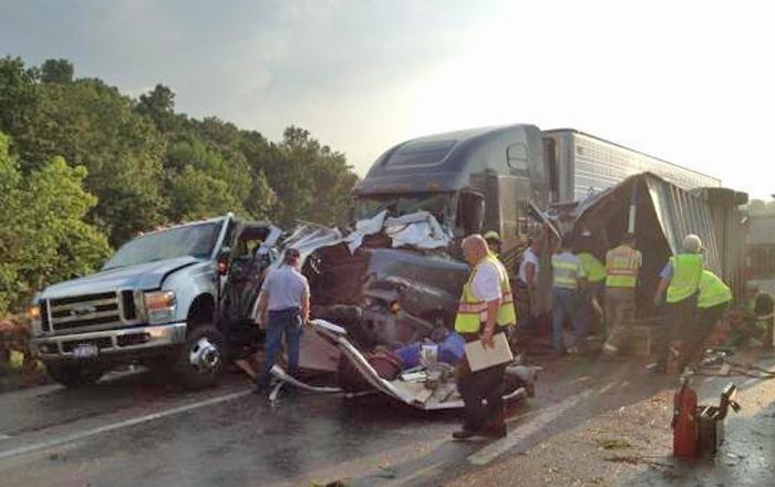 Horse trailer wreck