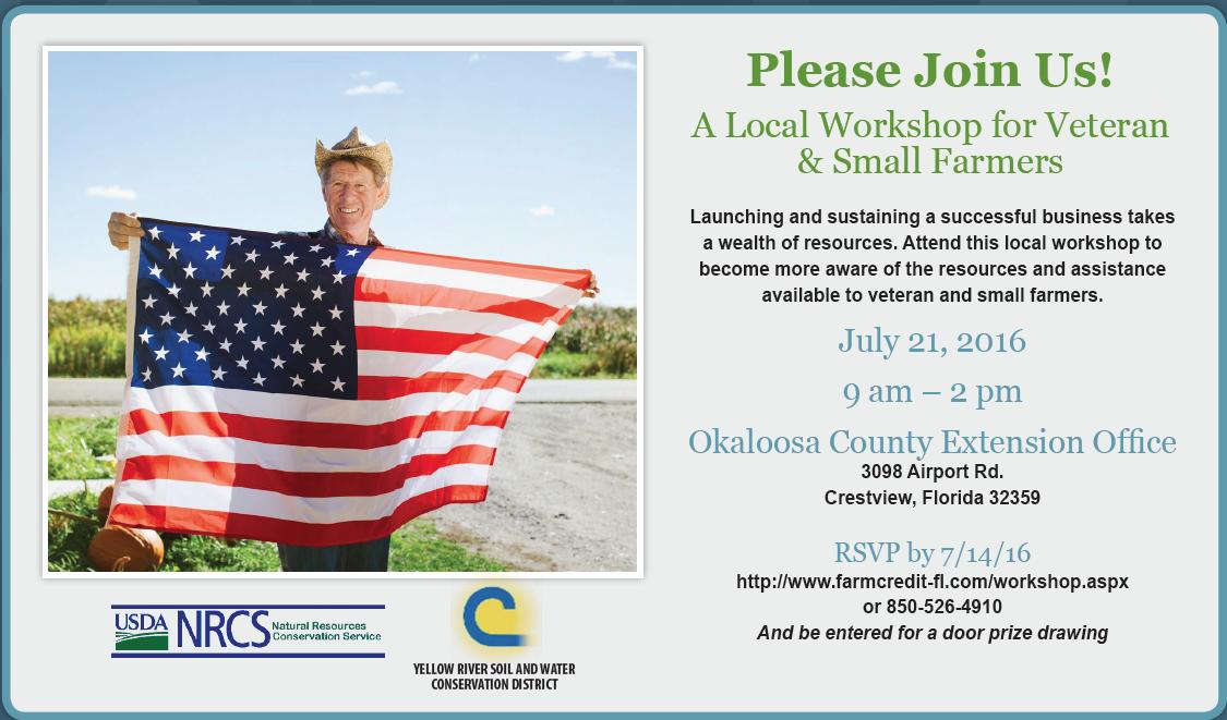 Okaloosa Veteran Workshop card