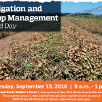 Irrigation and Crop Management Field Day September 13