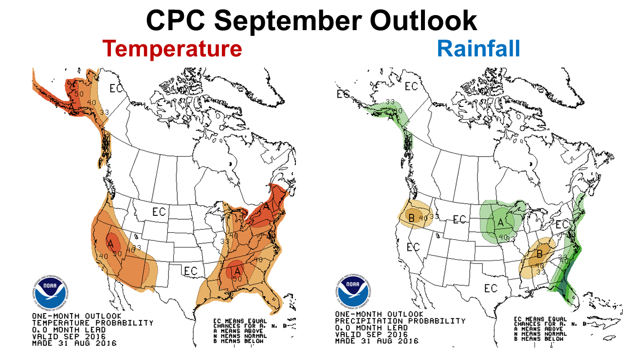 Climate Prediction Center Sept 16 Outlook