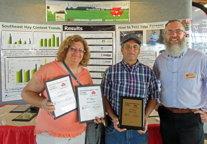 Bill and Donna Conrad, Bascom were recognized for their 3rd place alfalfa hay entry &hellip; </p/> <p><a class=