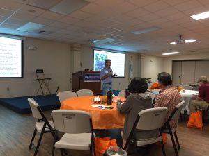 Dr. Jeff Williamson presenting on blueberry varieties at the Panhandle Fruit & Vegetable Conference. Photo Credit: Matt Orwat, UF/IFAS Extension.
