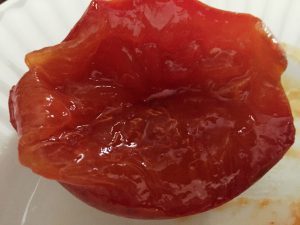 Fully ripe persimmon, ready for a scoop of ice cream !