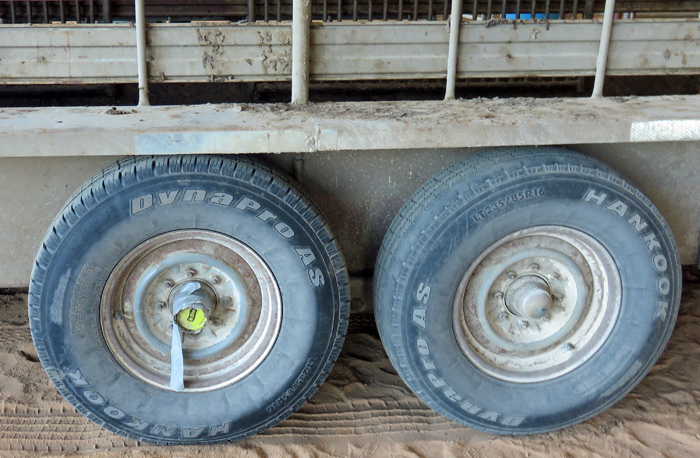 if you have ever duct-tapped a pickle lid over the trailer wheel bearings as a dust cap to take your kids 4-H projects to the Fair, You might be a farmer? Photo credit: Doug Mayo
