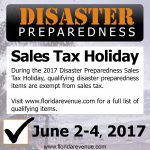 Disaster Preparedness Sales Tax Holiday June 2-4