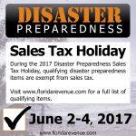 Disaster Preparedness Sales Tax Holiday June 2-4