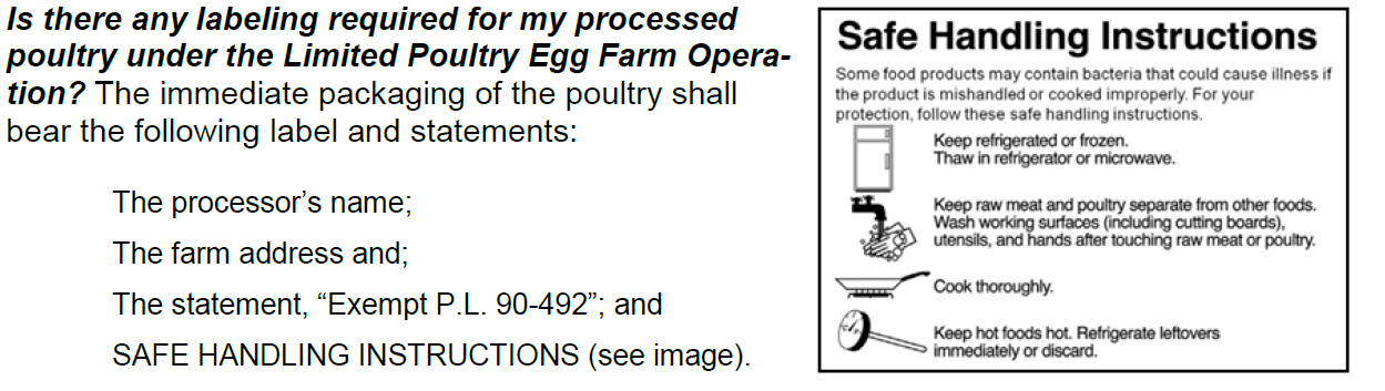 What Are The Requirements To Sell Eggs And Dressed Poultry From