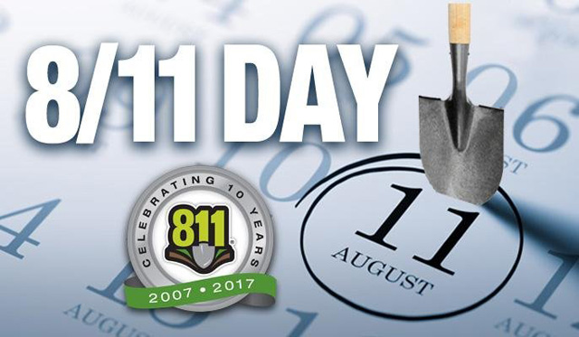 Call 811 Before You Dig or Farm Near Buried Utility and Pipelines ………..
