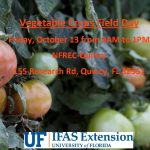 Vegetable Crops Field Day – October 13