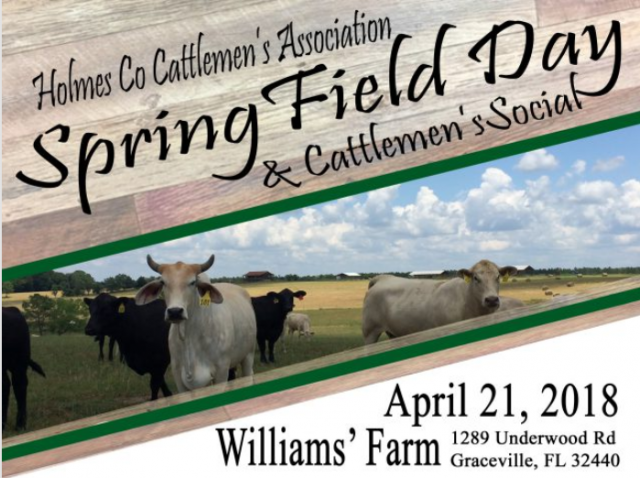 Spring Field Day and Cattlemen's Social – April 21