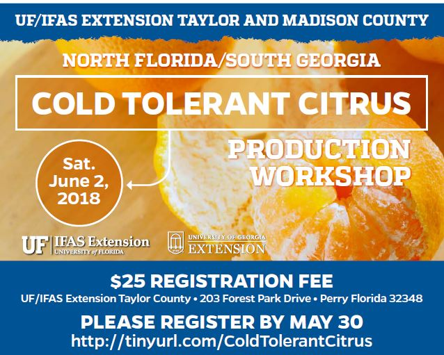 Cold Tolerant Citrus Production Workshop – June 2