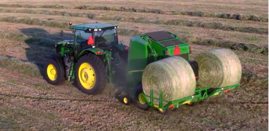 Friday Feature:  John Deere Round Bale Accumulator Attachment