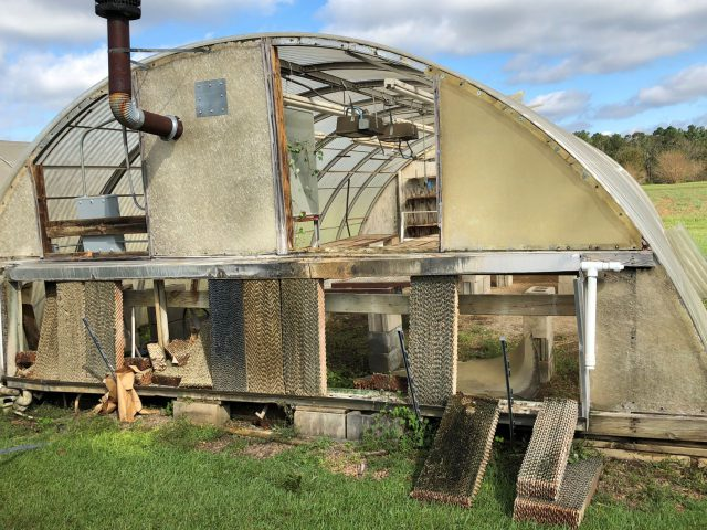 NFREC Marianna Greenhouse Damaged by Hurricane Michael