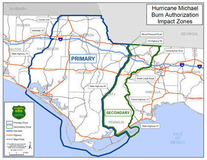 Florida Forest Service Requirements for Open Burning in Hurricane Michael Impacted Areas