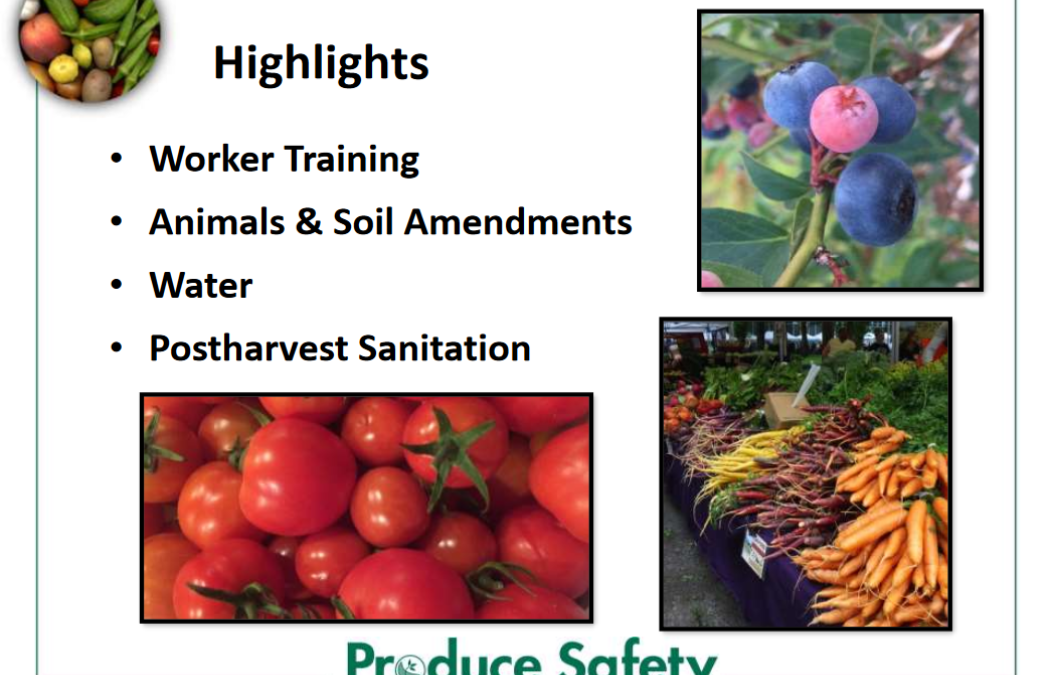 Farm Food Safety Certification Training – January 23