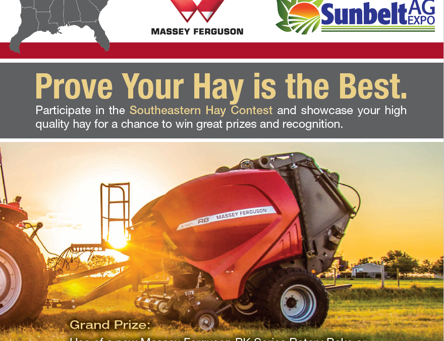 Do You Raise High Quality Hay? Enter a Sample in the 2019 Southeastern Hay Contest