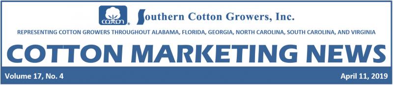 Cotton Marketing News header 4-11-19