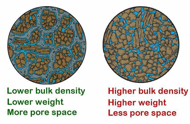 A healthy soil ecosystem can improve soil structure, helping to create soil aggregates, which improves aeration and water and nutrient holding capacity. Diagram by the International Society of Arboriculture, Bugwood.org.