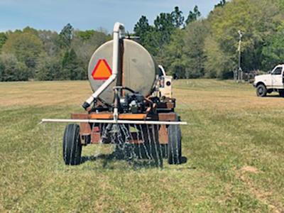 watering sod before harvesting