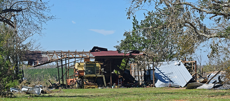 Equipment Barn Destroyed by Hurricane Michael